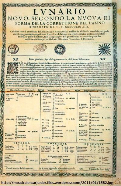 Calendario Gregoriano.Pergunte Ao Cref